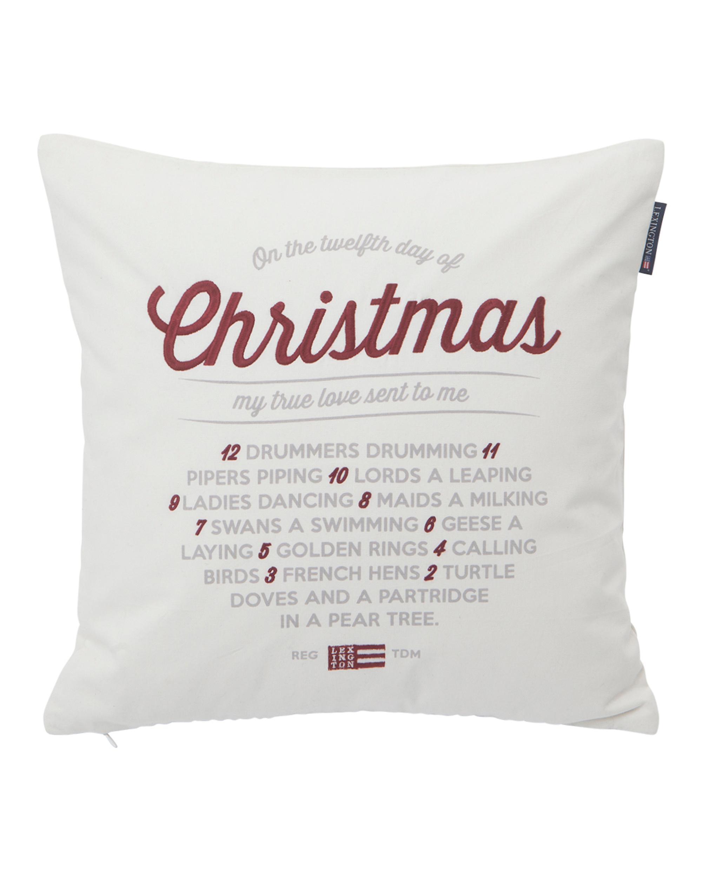Christmas Sham, White