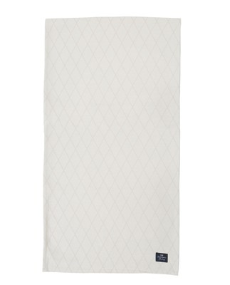 Jacquard Runner, White