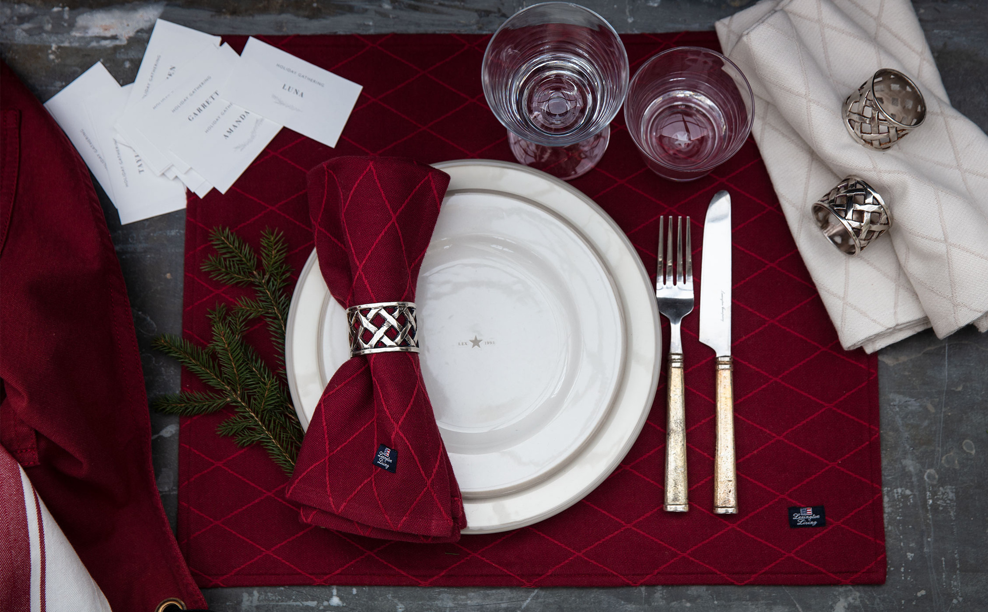 Jacquard Placemat, Red