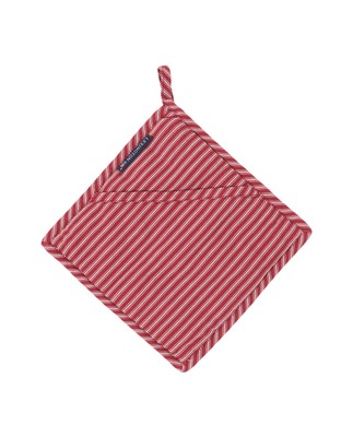 Striped Potholder, White/Red