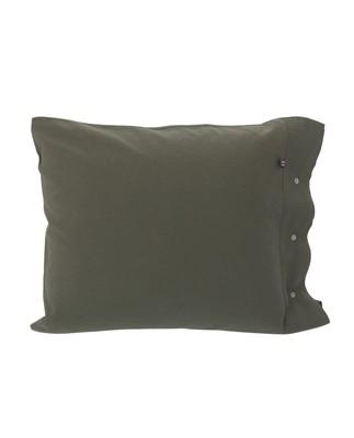 Washed Cotton Linen Pillowcase, Green