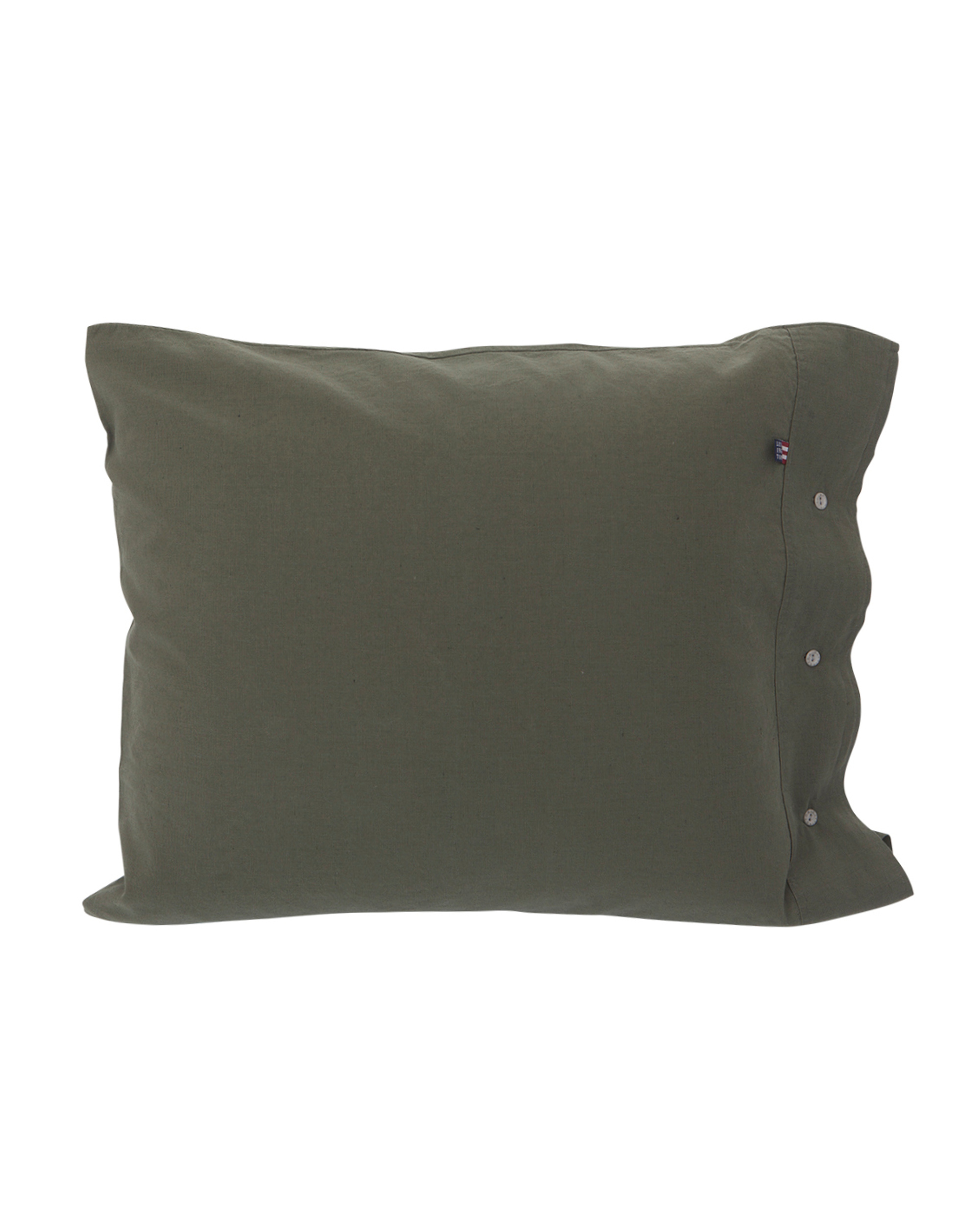 Washed Cotton Linen Pillowcase, Green