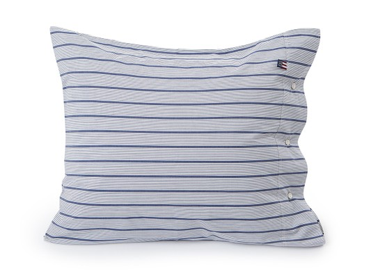 Blue Striped Poplin Pillowcase