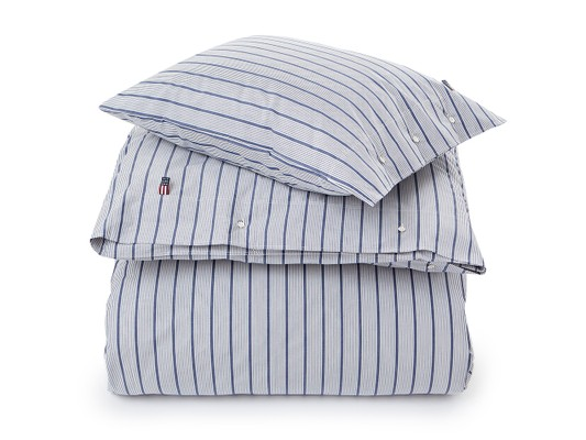 Blue Striped Poplin Duvet