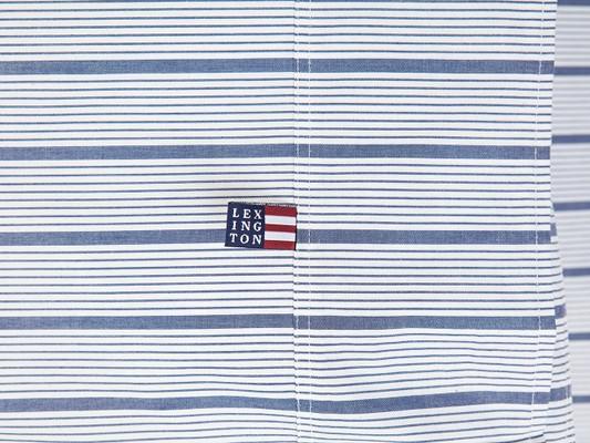 Blue Striped Poplin Duvet