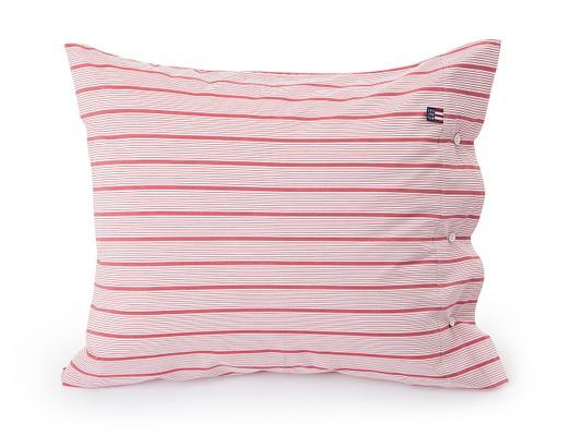 Red Striped Poplin Pillowcase