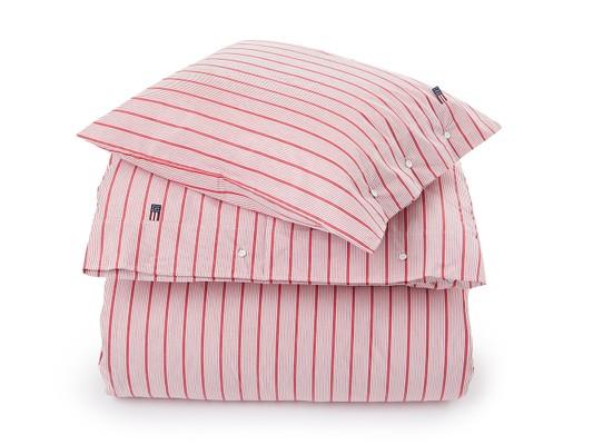 Red Striped Poplin Duvet