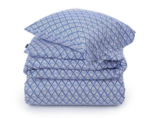 Blue Printed Sateen Duvet