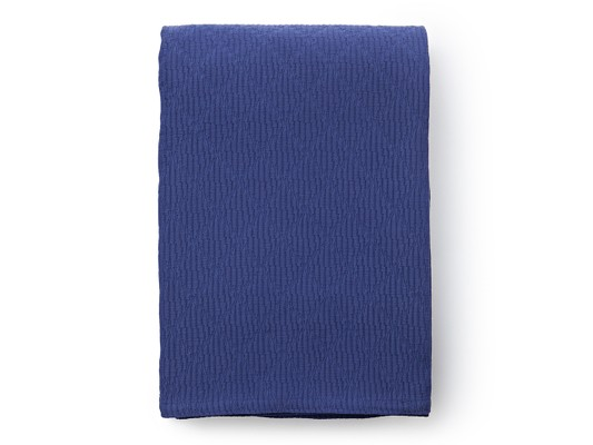 Cotton Structure Bedspread, Blue