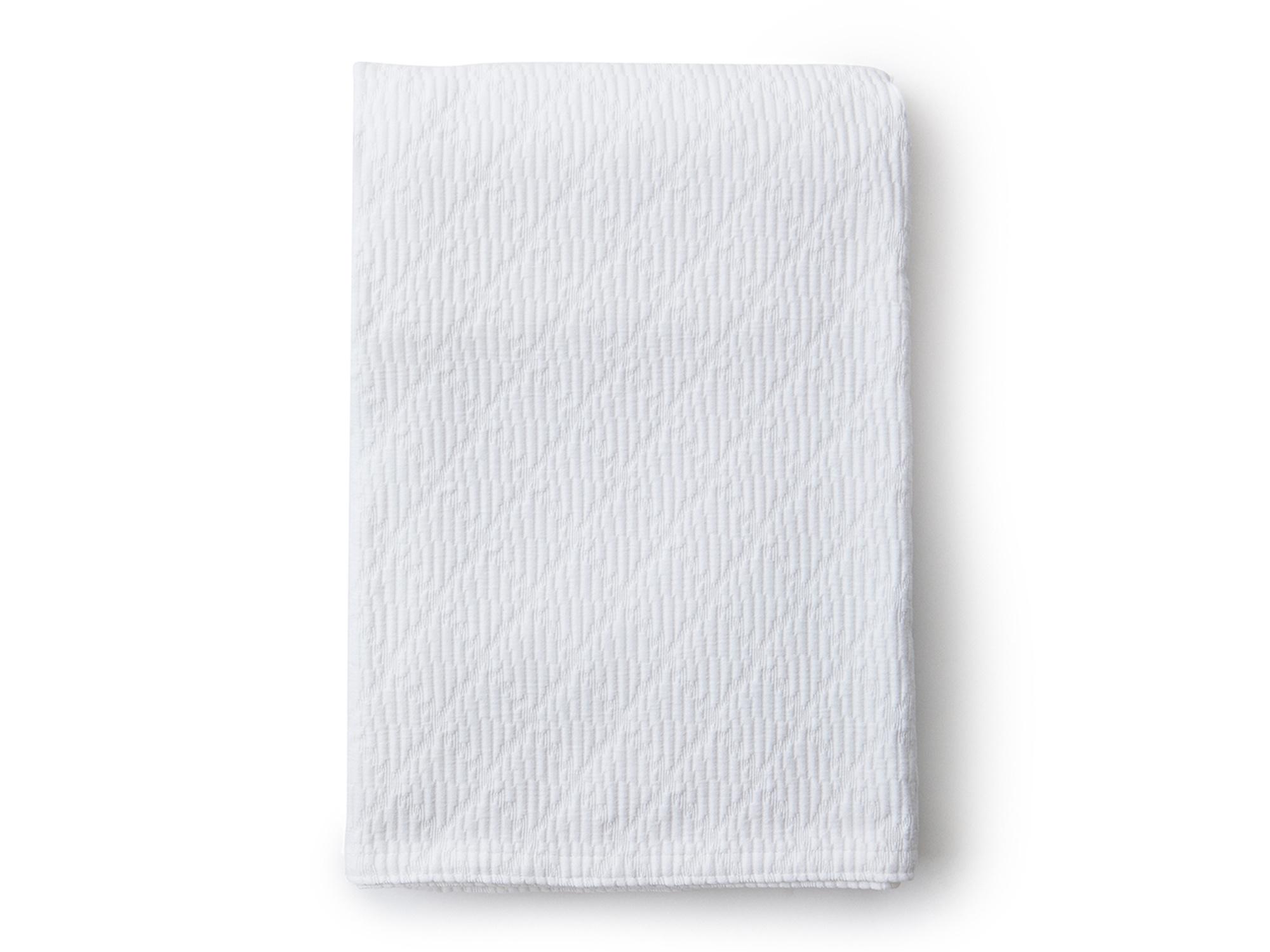 Cotton Structure Bedspread, White