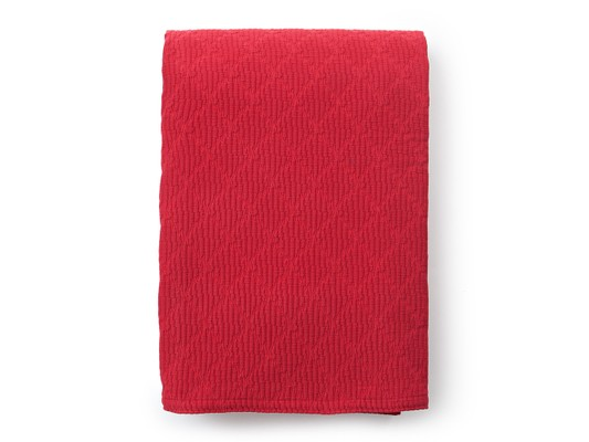 Cotton Structure Bedspread, Red