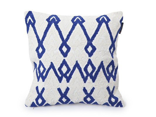 Rope Sham, White/Blue,50x50