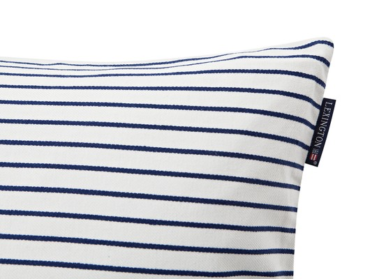Striped Sham, White/Blue