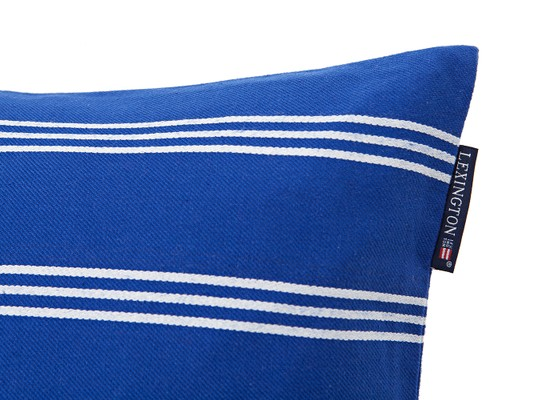 Striped Sham, Blue/White