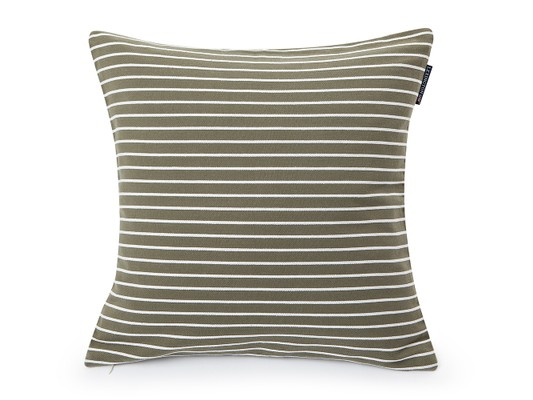 Striped Sham, Green/White