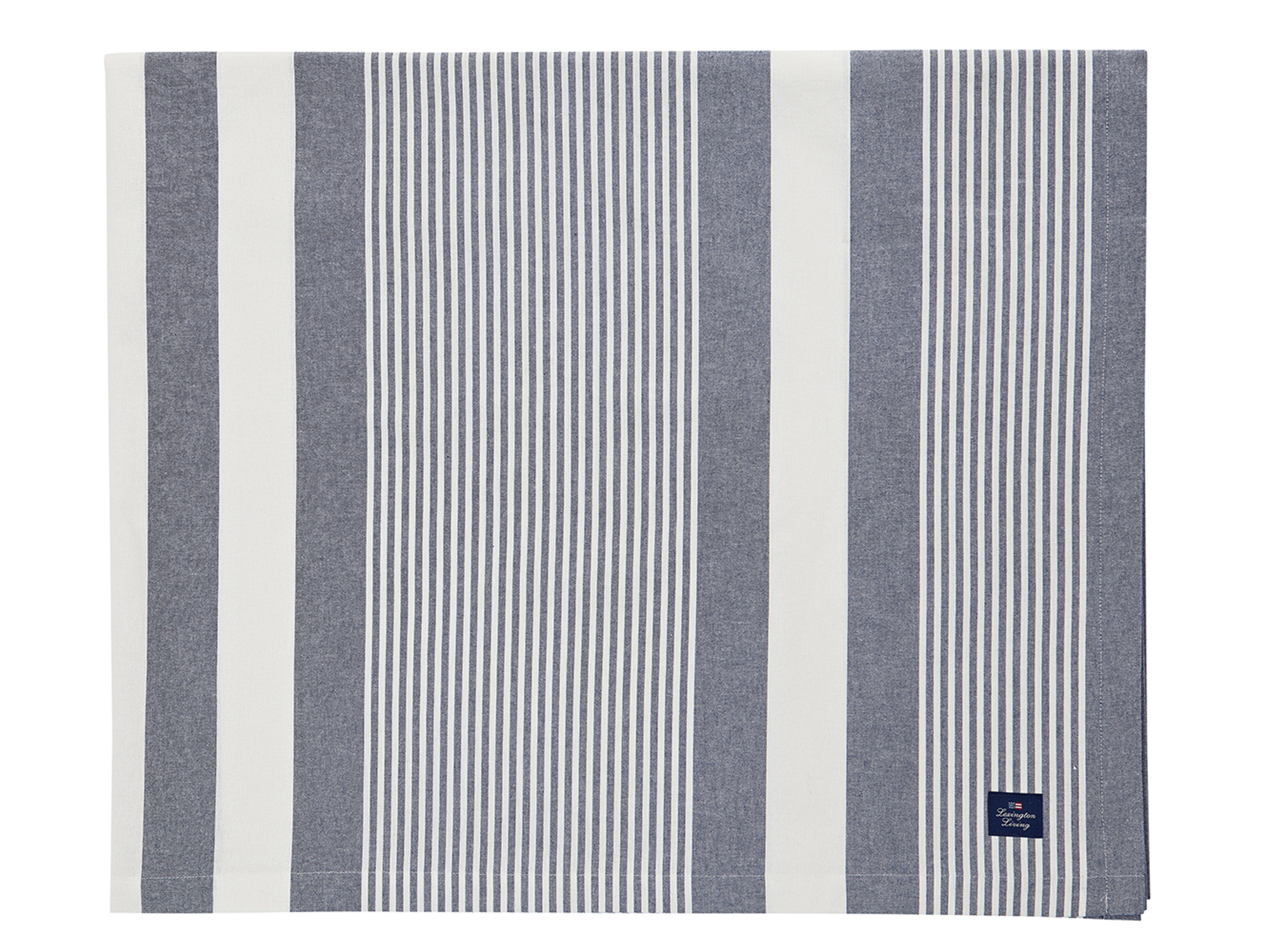 Striped Tablecloth, Blue/White