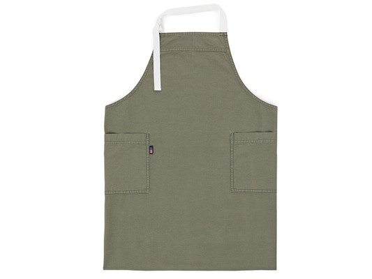 Canvas High Apron, Green