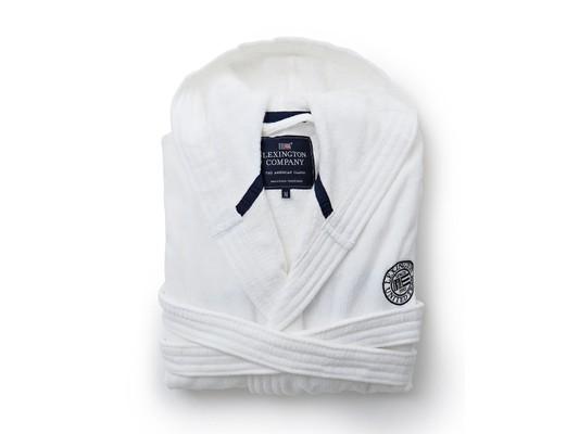 Hood Velour Robe, White