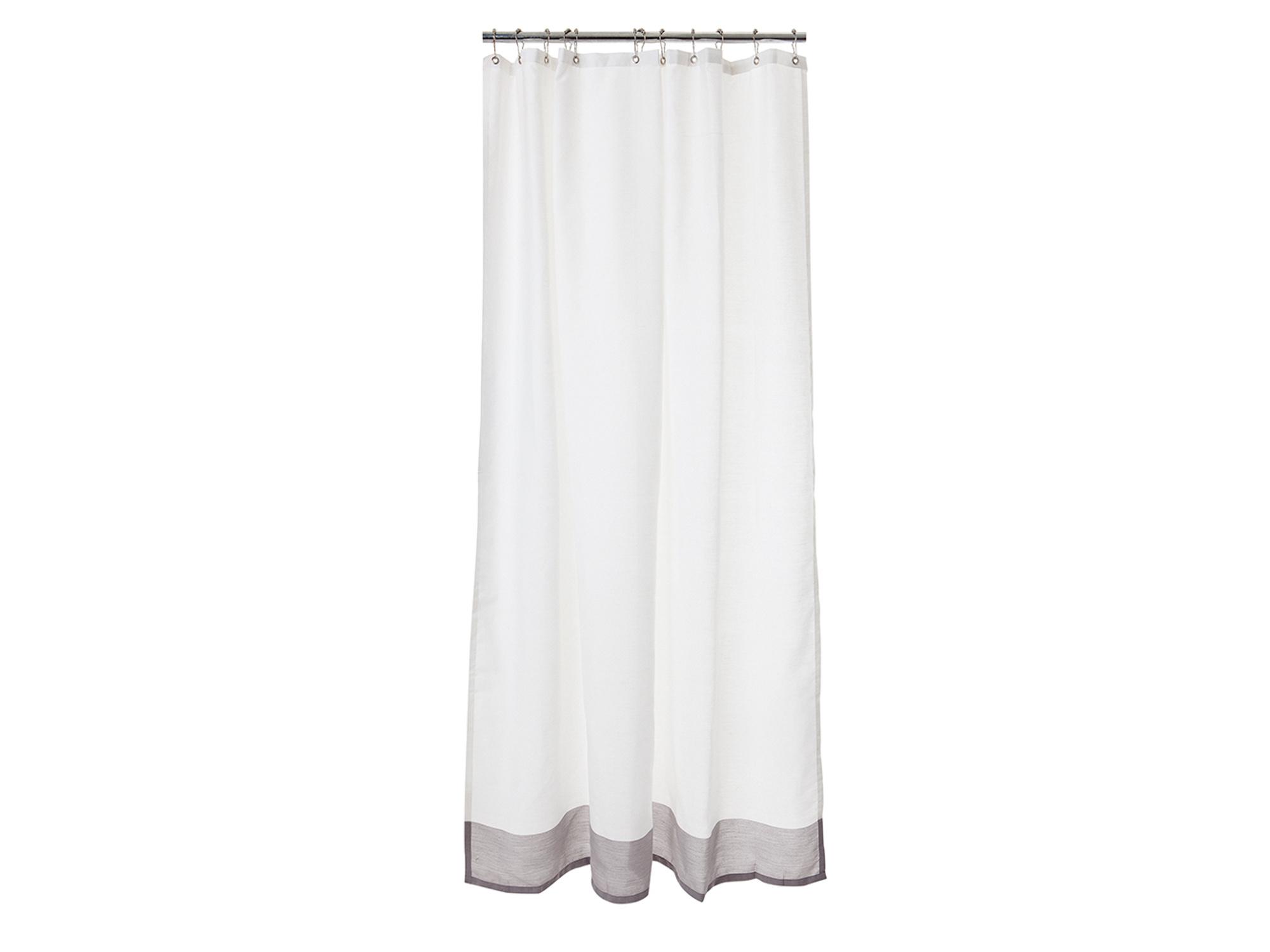 Shower Curtain, White/Gray