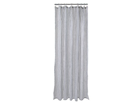 Striped Shower Curtain, Gray/White