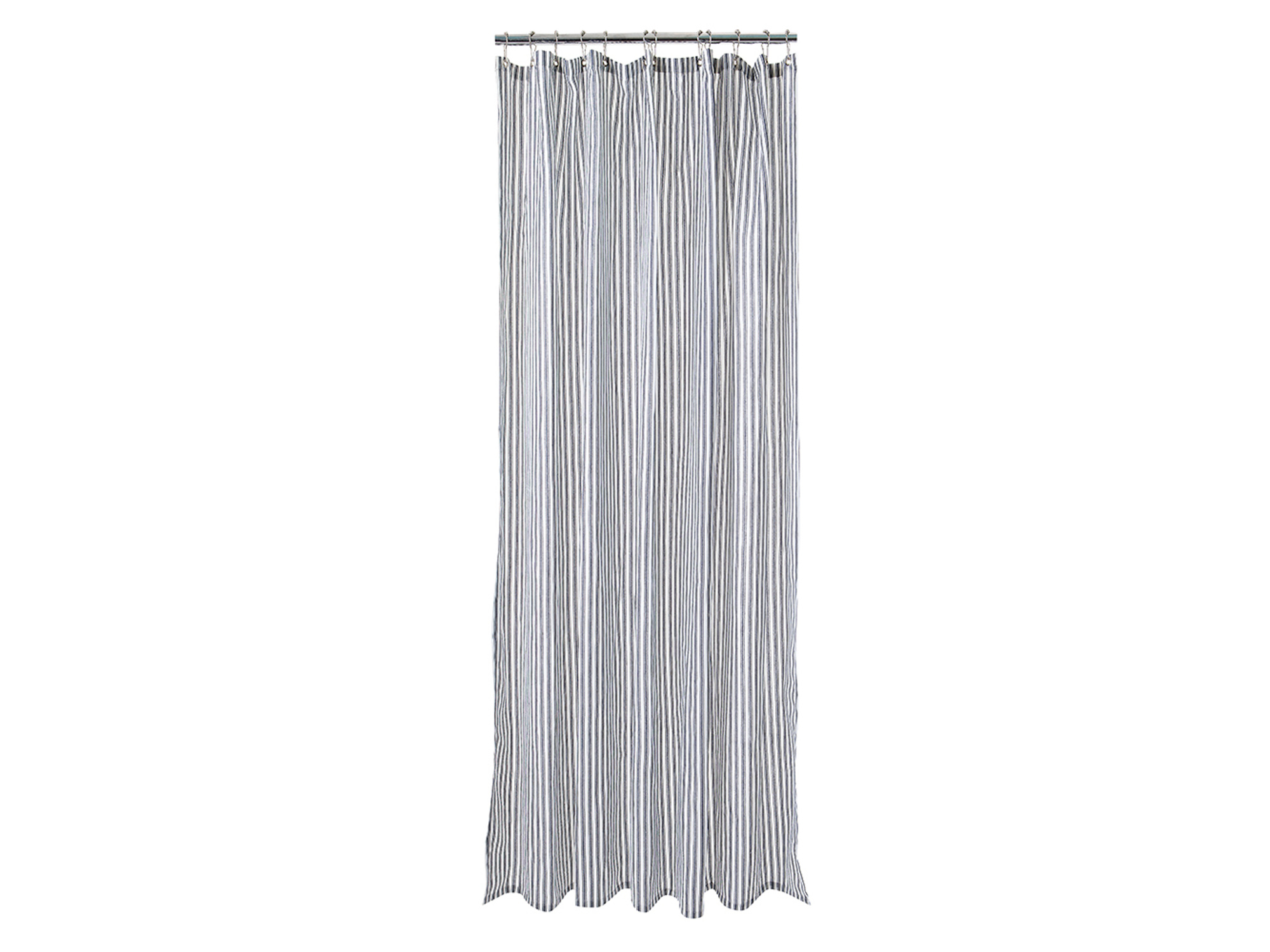 Striped Shower Curtain Gray White