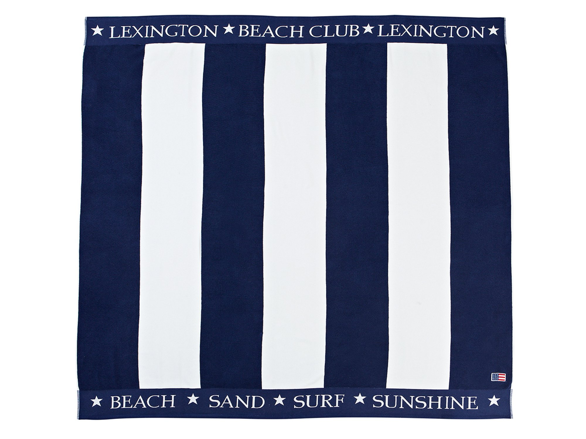 Family Beach Towel, Blue/White
