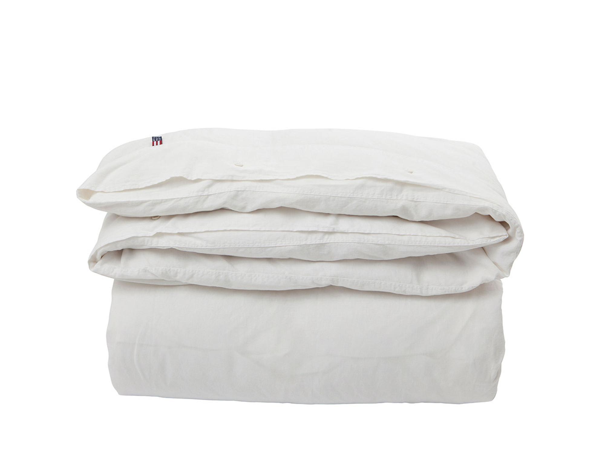 Washed Cotton Linen White Duvet
