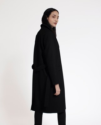 Heather Coat, Caviar Black