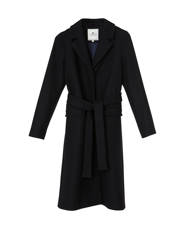 Heather Coat, Caviar Black