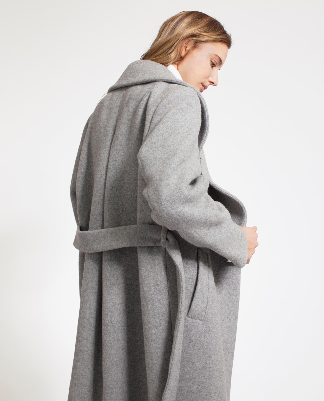 Mila Long Coat, Heather Gray
