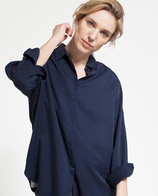 Vanja Lyocell Shirt, Deepest Blue