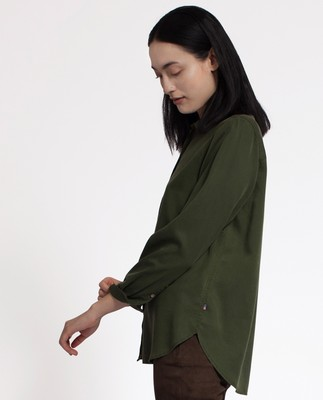 Vanja Lyocell Shirt, Bottle Green