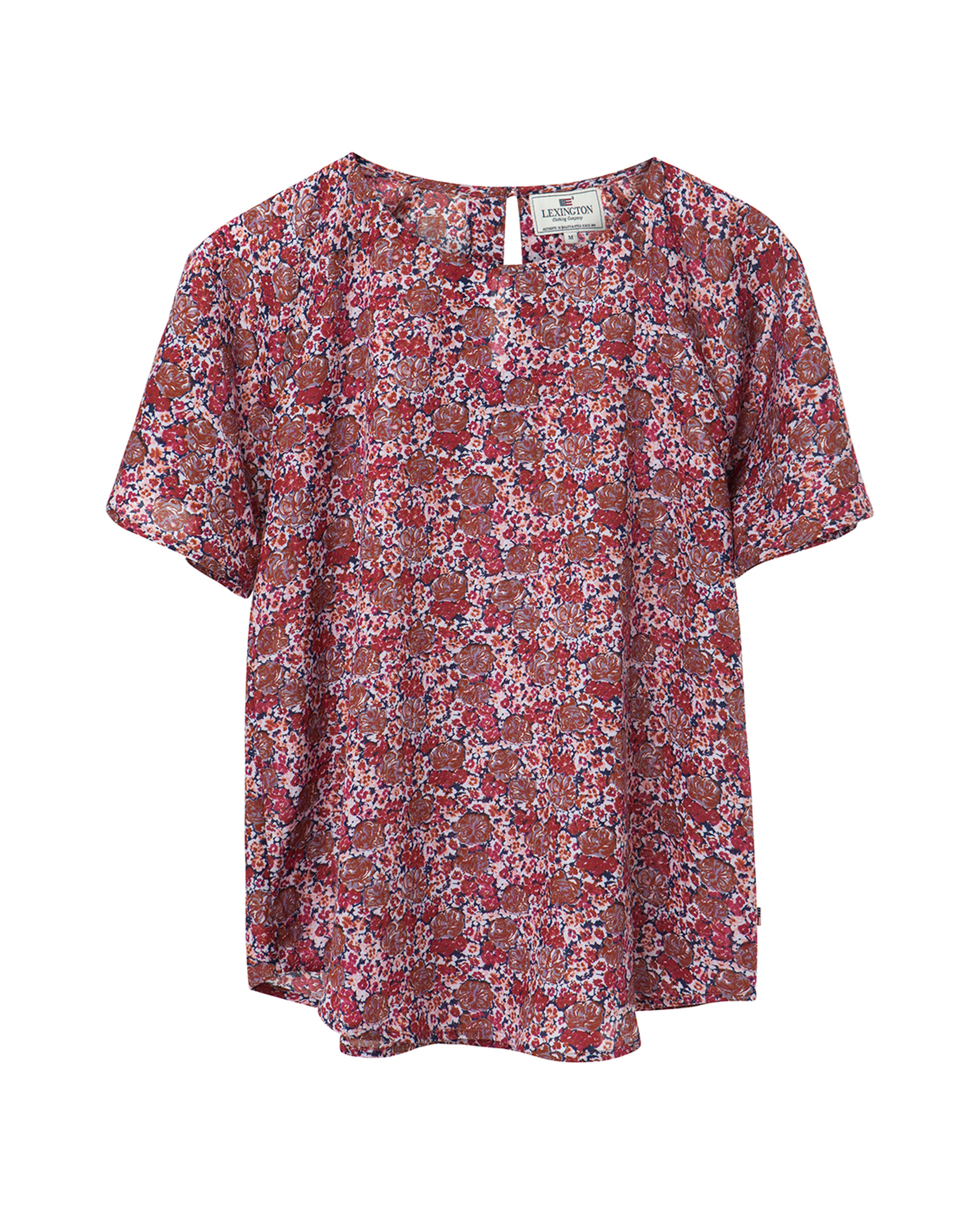 Ellis Red Flower Top