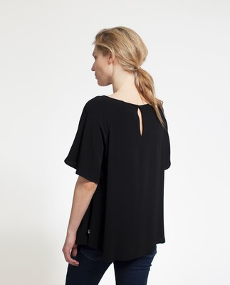 Ellis Viscose Top, Caviar Black
