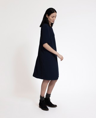 Grace Dress, Deep Marine Blue