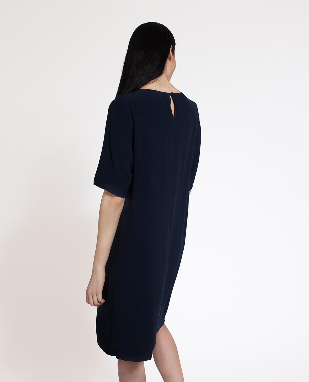 Grace Dress, Deep Marine Blue