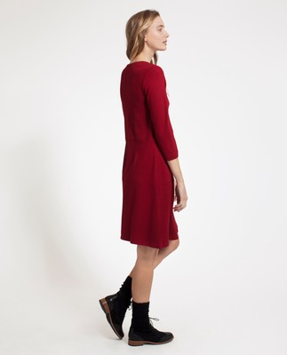 Michaela Jersey Dress, Red Dahlia