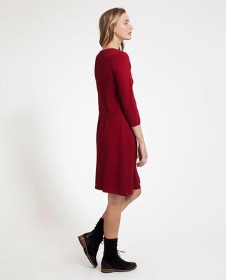 Michaela Jersey Dress, Red Dahlia