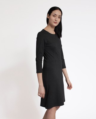Michaela Jersey Dress, Heather Gray
