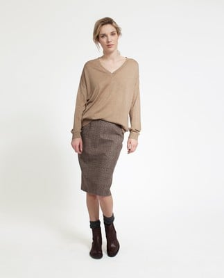 Ana Cotton Bamboo Sweater, Camel