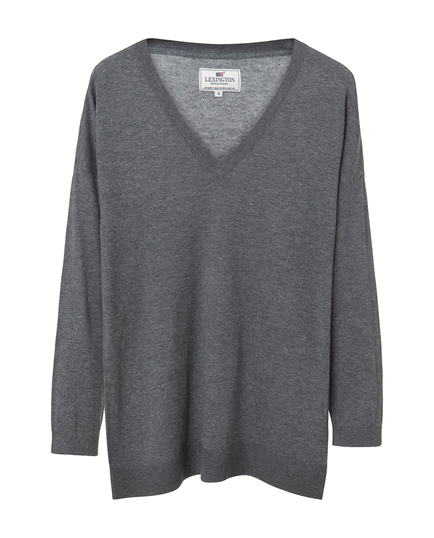 Ana Cotton Bamboo Sweater, Heather Gray