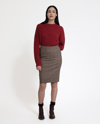 Lexi Check Pencil Skirt