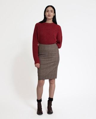 Lexi Check Pencil Skirt