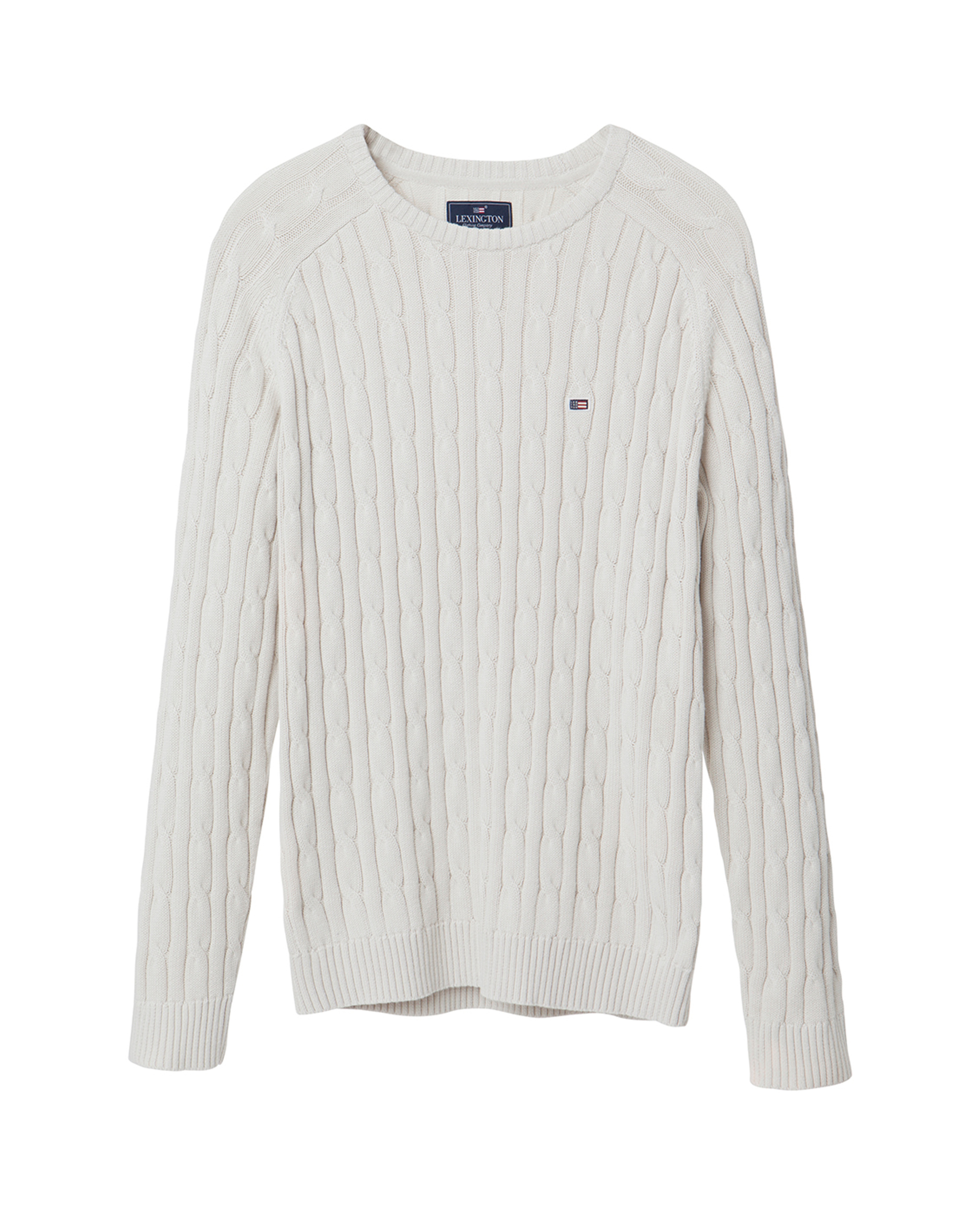 Andrew Cotton Cable Sweater, Ivory