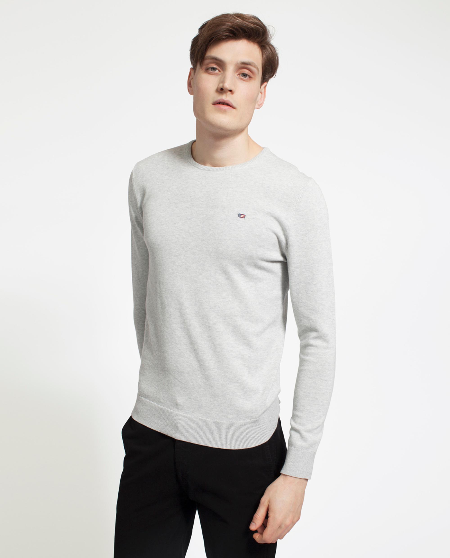 Bradley Cotton Crewneck Sweater, Light Gray