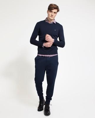 Bradley Cotton Crewneck Sweater, Deepest Blue