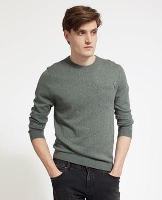 Jeff Crewneck Sweater, Balsam Green