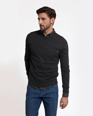 Jeff Crewneck Sweater, Dark Gray