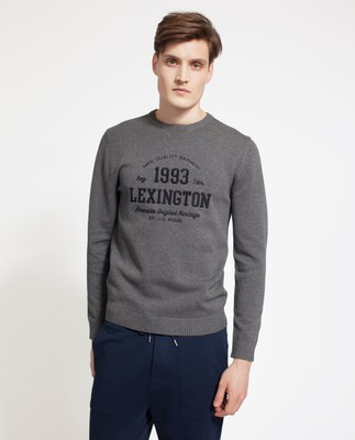 Nelson Knitted Sweatshirt, Dark Gray