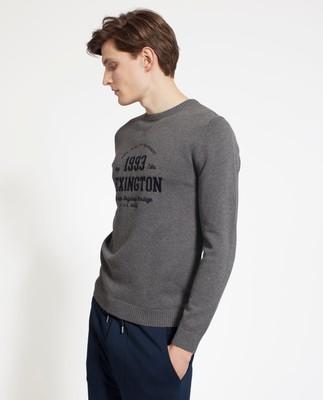 Nelson Knitted Sweatshirt, Dark Gray